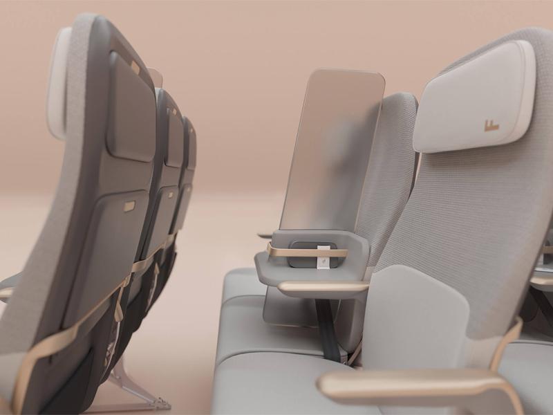 صفحه نمایش Isolation را برای فاصله اجتماعی در هواپیماها