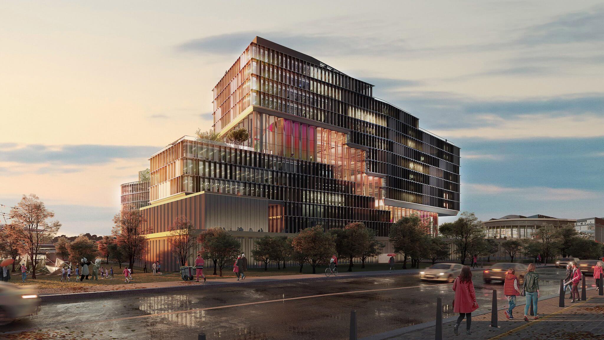 UNStudio bisects St Petersburg office with zigzagging atrium