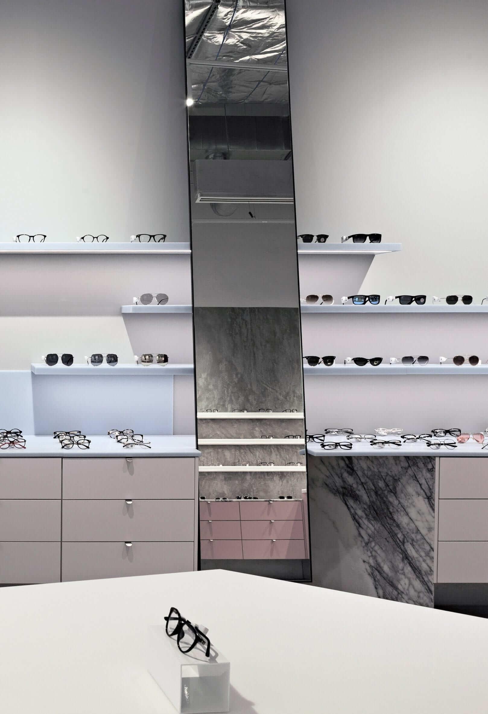 "Studio Edwards conceals ""jewel-like"" eyewear store behind perforated aluminium facade"